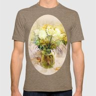 Roses And Lilies Mens Fitted Tee Tri-Coffee SMALL