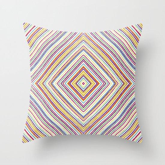 CRAYON STRIPES Throw Pillow