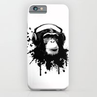 iPhone Cases featuring Monkey Business - White by Nicklas Gustafsson