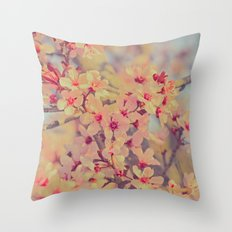 Vintage Blossoms - In Memory of Mackenzie Throw Pillow