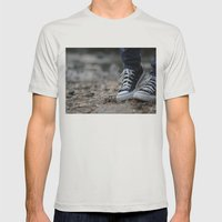 Converse Mens Fitted Tee Silver SMALL