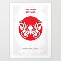 No391 My Mothra Minimal … Art Print