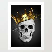 Royal Skull Art Print