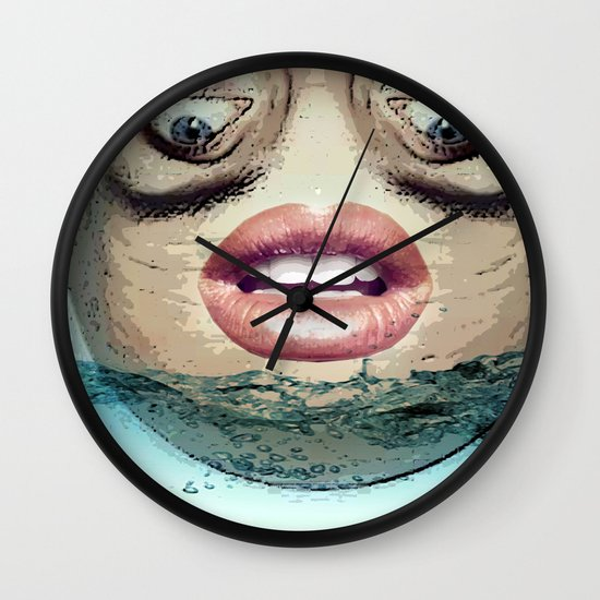 Head above Wall Clock