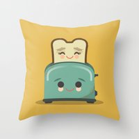 Toasty Buds Throw Pillow