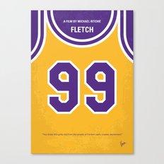No533 My Fletch minimal movie poster Canvas Print