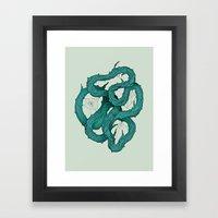 Wood Knot Framed Art Print