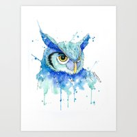 Color Hedwig  Art Print