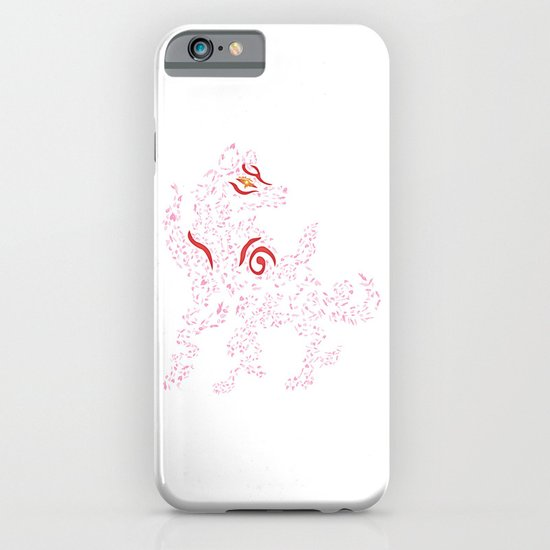 Okami Amaterasu - Cherry Blossom Form [WHITE] iPhone & iPod Case
