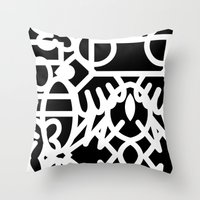 Graffiti And Marker #1 Throw Pillow