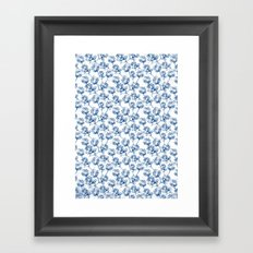 Lotus Pattern Framed Art Print