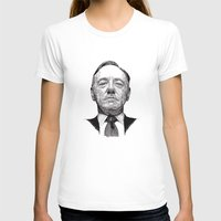 House of Cards - Francis Underwood Womens Fitted Tee White SMALL