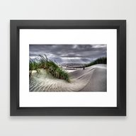 Framed Art Print featuring Sand Dunes by MadDog