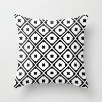 Graphic_Tile Black&White Throw Pillow