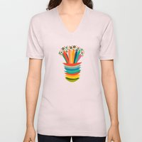 Colors And Flowers Unisex V-Neck
