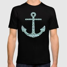 Tribal Anchor Black SMALL Mens Fitted Tee