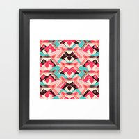 Raccoons And Hearts Framed Art Print