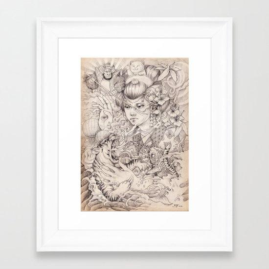 Irezumi Framed Art Print