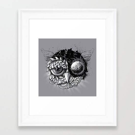 Owl Day & Owl Night Framed Art Print