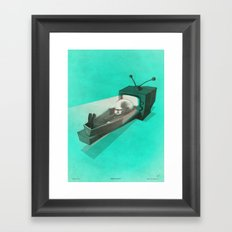 What's on TV? Framed Art Print