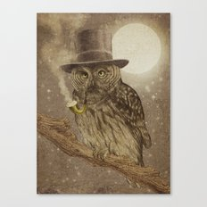 Night Smoke Canvas Print