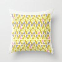 Lemon Sorbet Throw Pillow