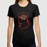 Dean's Phrenology Womens Fitted Tee Tri-Black SMALL
