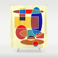 Shower Curtain featuring Abstract #29 by (RLT)