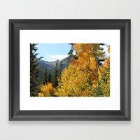 Autumn in the Rocky Mountains at Diamond Lake Trail, Eldora Colorado Framed Art Print