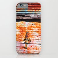 Abstract Rusty Garage Do… iPhone 6 Slim Case
