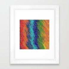 FlowerColor Framed Art Print