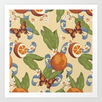Botanical Oranges Art Print