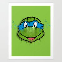 TURTLE POWER (NINJA TURTLE) Art Print