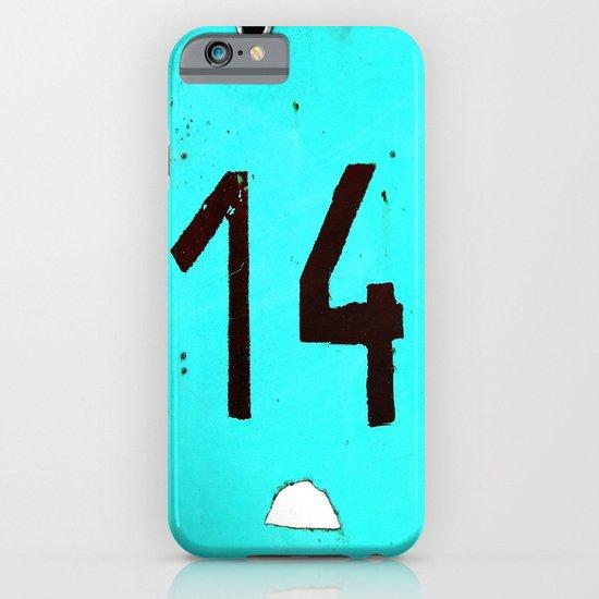 Turqoise Number Fourteen iPhone & iPod Case