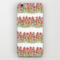 Flower stripe garden iPhone & iPod Skin