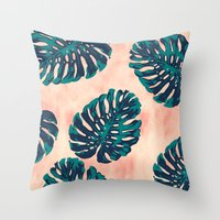 CALIFORNIA TROPICALIA Throw Pillow