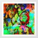 Butterfly in the flower Art Print