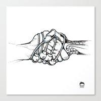 Handholding Canvas Print