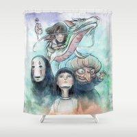 Spirited Away Watercolor… Shower Curtain