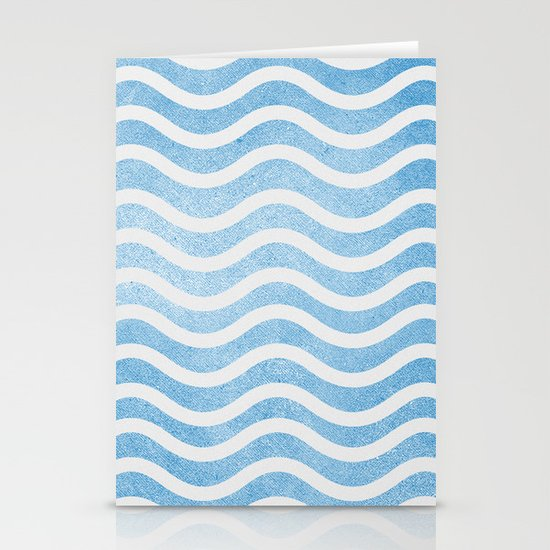 Waves. Stationery Card