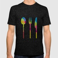 LET'S EAT Mens Fitted Tee Tri-Black SMALL