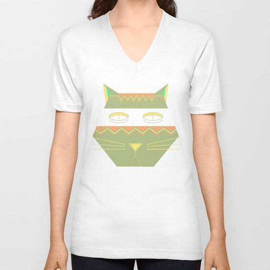 almost in cognito meow V-neck T-shirt
