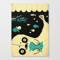 Panda Seal Canvas Print