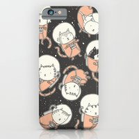 iPhone Cases featuring Cat-Stronauts by Drew Brockington