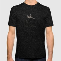 Cat Power Mens Fitted Tee Tri-Black SMALL