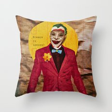 Dinner is Served! Throw Pillow