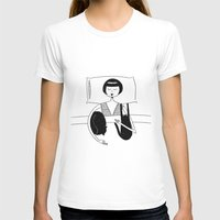 sweet dreams Womens Fitted Tee White SMALL