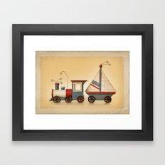 TOY TRAIN Framed Art Print