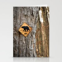 Bear Crossing Stationery Cards