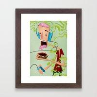 Puke Brain Framed Art Print